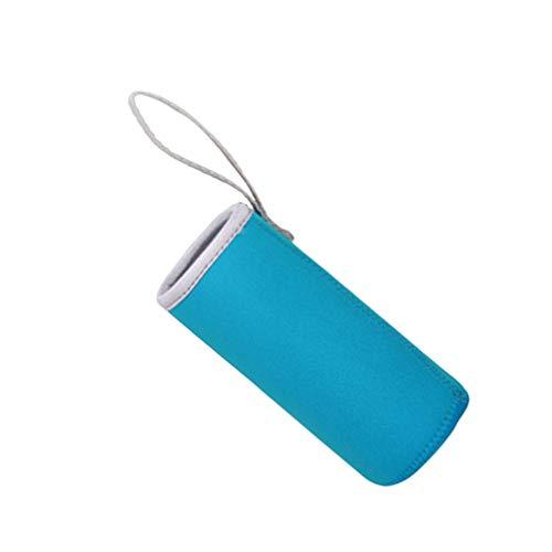 Cabilock Isolerad Drickande Flaska Ärm 550Ml Vattenflaska Mysig Varm Täckning Bärbar Handtag Saftflaskan Bålväska Sjön Blått