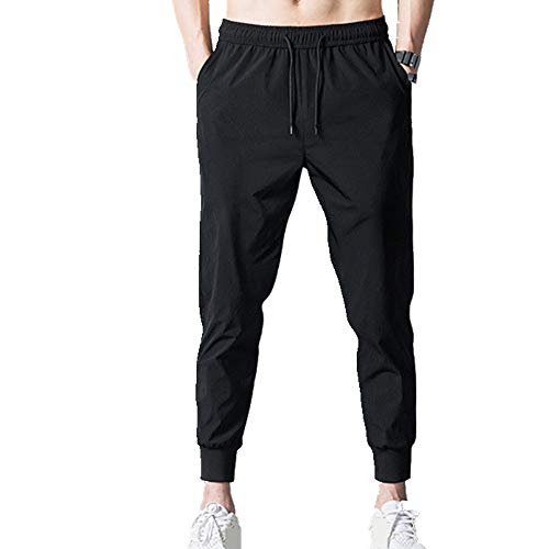 N\P Los hombres Pantalones Delgado Delgado Noventa Puntos Pantalones para Hombre Ocio Pequeños Pies Pantalones
