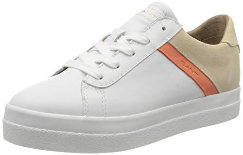 Gant Avona, Zapatillas Mujer, Blanco (BR. Wht./Maca. Beige G287), 38 EU