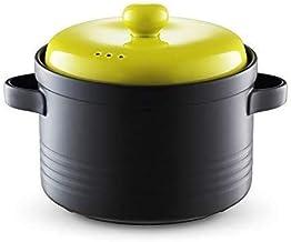 Praktisch Casserole gerechten 5L keramische braadpan, stoofpot pot hete pot met deksel kookgerei, slagvast braadpan met du...