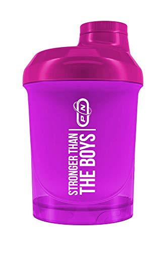 Pure Nutrition Rainbow Protein Shaker Bottle|10 Fresh Colors Motivating Signs Men Women|Comfortable Reliable High Quality|BPA Free with Strainer|Gym Fitness Bodybuilding|600|300ml (Mini Pink, 300 ml)