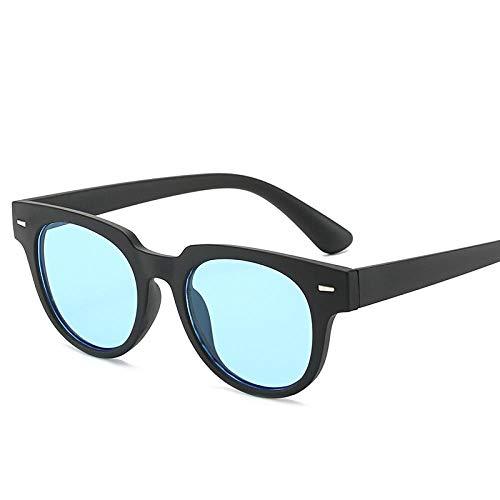 QINGZHOU Sonnenbrillen,Mi Nagel Sonnenbrille Klassische Business Brille Supermarkt Werbeartikel, Schwarzer Rahmen Blauen Film
