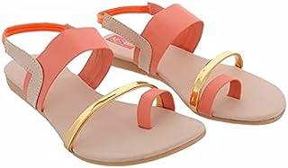 Family Fashion MART Women's C-S-F Flats-Peach (S.NO-31)