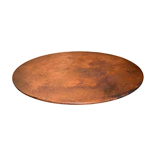36  X-Large Hand-Hammered Tempered Copper Lazy Susan