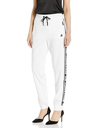 Karl Lagerfeld Paris Damen Karl Logo Taping Pants Jogginganzug, weiß/schwarz, Groß