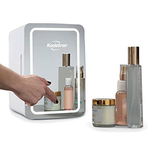 Koolatron Cosmetic Mini Fridge, 6 Liter AC/DC Portable Beauty Fridge,...