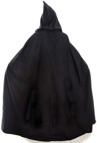 Mittelalter Umhang weit schwarz mit Kapuze Mittelalterliche Kleidung - 4