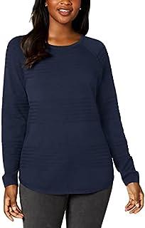 KAREN SCOTT Womens Navy Long Sleeve Jewel Neck Sweater AU Size:14