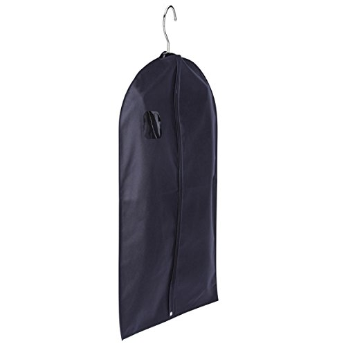 Single Navy Breathable GARMENT BAG Zippered Non-Woven Washable Eco-Friendly Hanging Clothes COVER - 12' x 15' x 25'