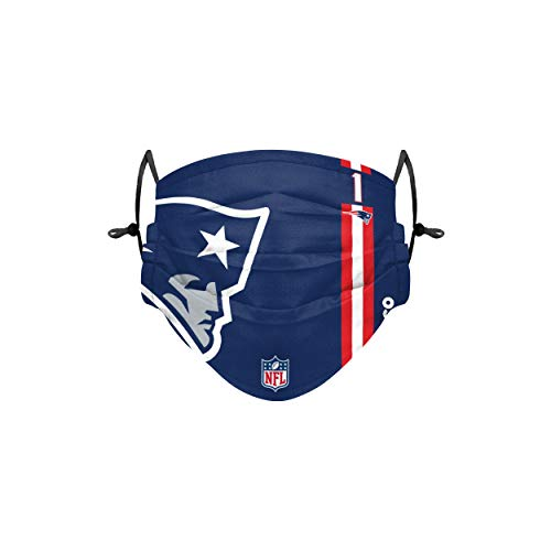 Forever Collectibles UK Cam Newton New England Patriots sul campo Sideline Logo Youth Face Cover