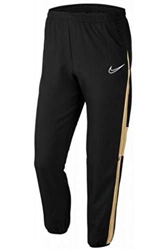 NIKE BQ7348-011 Sweatpants, Mens, Black/Jersey Gold/White, M
