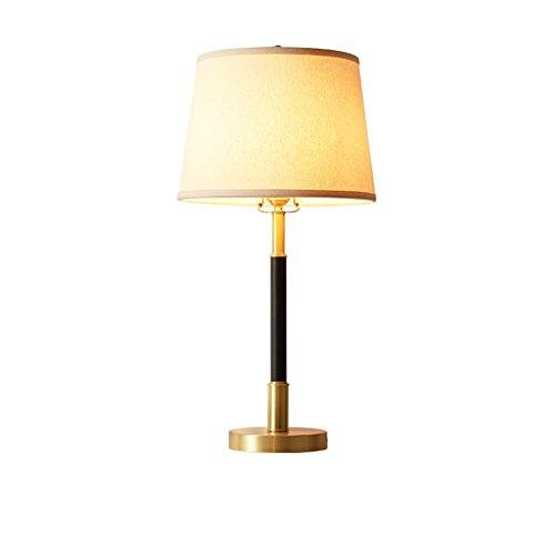 HLQW Estilo Europeo Moderno y Simple Aldea de Estilo Europeo Lámpara de Cobre Completa Dormitorio Lámpara de cabecera Lámpara de Ambiente Retro Estudio de la atmósfera