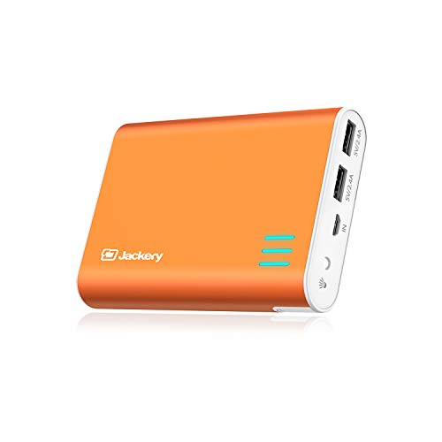 Jackery External Battery Charger Giant+ 12000mAh Power Outdoors Dual USB Portable Battery Charger/External Battery Pack/Phone Backup Power Bank with Emergency Flashlight for iPhone, Samsung-Orange