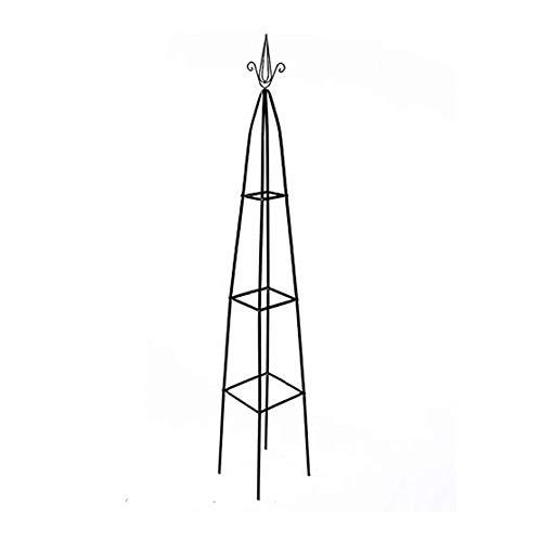 REUJKK Garden Obelisk, Dark Green Climbing Support Set, Ground, For Plants Garden Pyramid Pot, H 197 Cm