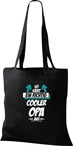 Organique Sac, Shopper, afin Sieht Ein Cooler Opa En - Noir, 37 cm x 42 cm