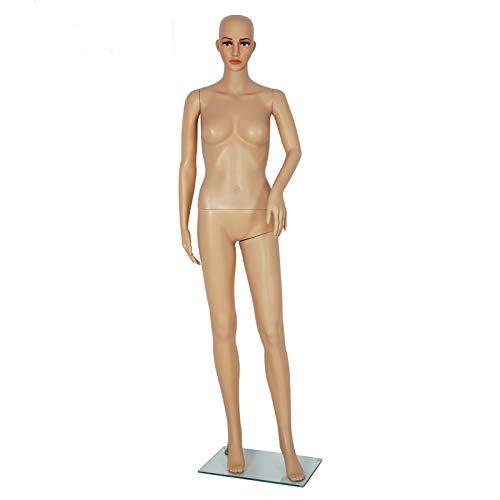 Ballshop Schaufensterpuppe Weiblich Frau Beweglich Mannequin 360° Verstellbare Schaufensterpuppe 175 cm