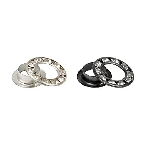 QWSX Ojales 200SETS Silver/Black Latón Ojales Ojales Eyelets for Zapatos de Lateral de Liacas Bolsa Vestido de Lienzo Ropa Ojal Accesorios Hermosa y Duradera (Color : Golden 6mm)
