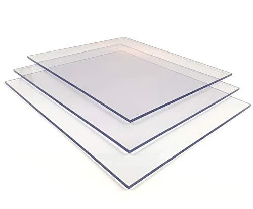 Placa de policarbonato Makrolon UV 4,0 mm, placas de policarbonato incoloro/transparente (4,0 mm, 1510 x 680 mm)