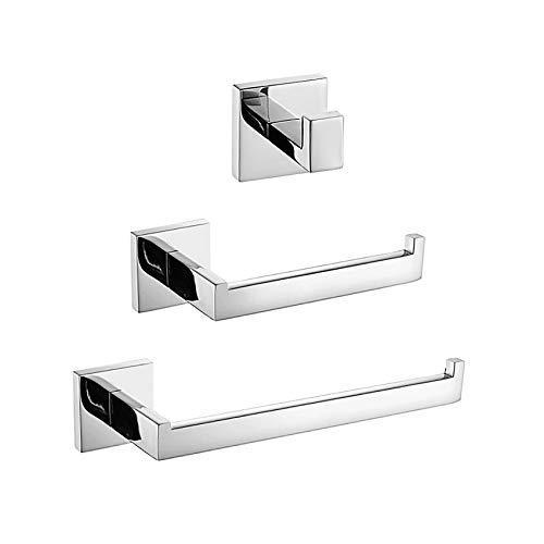 Turs de 3 piezas Baño Accesorio Establecer SUS 304 acero inoxidable Papel higiénico Titular Toalla Bar/Titular Gancho de bata, Acabado pulido, Q7010P