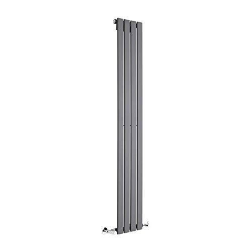 Hudson Reed Radiador de Diseño Moderno Vertical Delta - Radiador con Acabado...