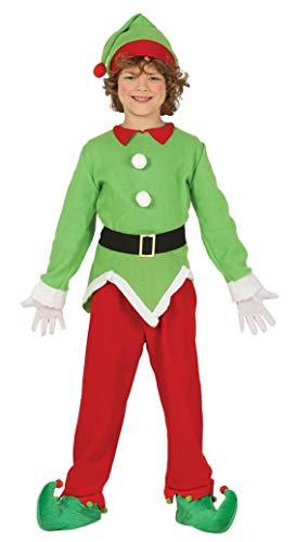 GUIRMA Elfo Elfo Disfraz ayudante niño Santa Claus