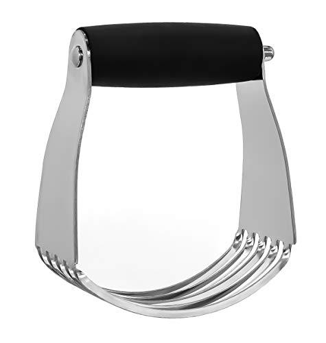 Granny's Kitchen Hand Teigmischer aus Edelstahl mit ergonomischem Griff - Teigkneter fürs Backen & Kochen - Gebäck Teig Kneter Mixer mit 5 Klingen
