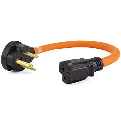 1.5 Ft NEMA 6-50P to 6-15R/6-20R Welder Adapter Cord, Electric Vehicle Charging Adapter (6-50P to 6-20R)