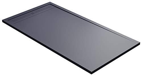 Duschwanne 90 x 120 cm aus Stein Maier Oasis grau anthrazit