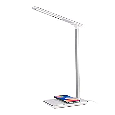 ZOUYee Desk lamp with Wireless Charger,LED Desk Lamp with USB Charging Port