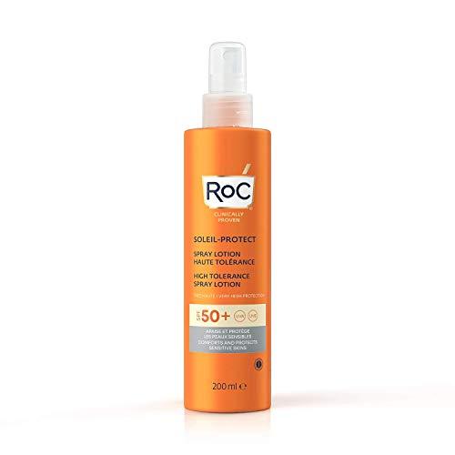 RoC - Soleil-Protect Lozione Spray Alta Tolleranza SPF 50 - Crema Solare Non Grassa - Alta...