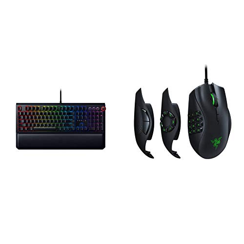 Razer BlackWidow Elite Mechanical Gaming Keyboard & Naga Trinity Gaming Mouse: 16,000 DPI Optical Sensor - Chroma RGB Lighting - Interchangeable Side Plate w/ 2, 7, 12 Button Configurations