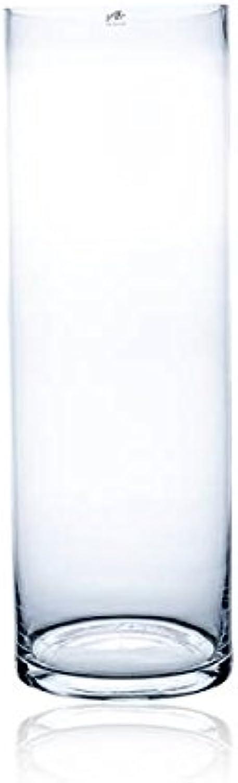 Sandra Rich Bodenvase, Blaumenvase Zylinder CYLI H. 75cm D. 25cm Glas rund
