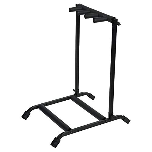 Rok-It Multi Guitar Stand Rack with Folding Design; Holds up to 3 Electric or Acoustic Guitars (RI-GTR-RACK3)