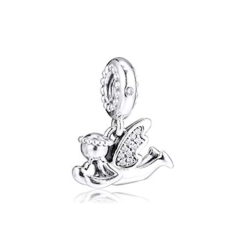 Pandora 925 pulsera de la joyería natural ángel del amor cuelgan encanto granos de plata esterlina para las mujeres de Berloques regalo