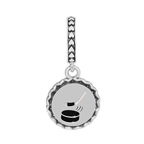 LILANG Pandora 925 Schmuck Armband natürliche Perlen Sterling Silber passt Hockey Dangle Charm für ganze Frauen DIY Geschenk