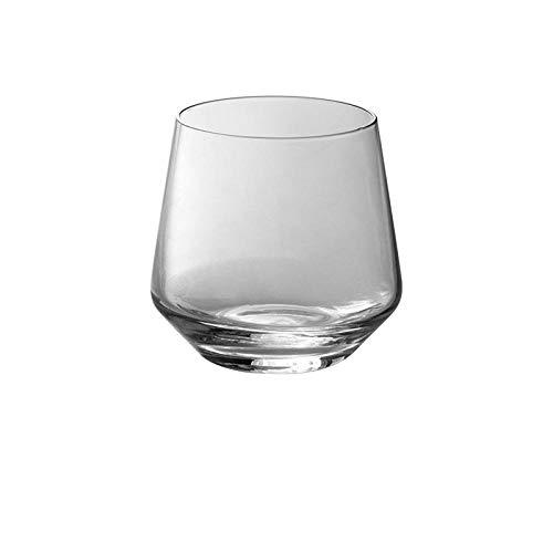 verre a vin SFBBBO verre Tulip Art Tumbler Verre à vin sans pied Coupe de jus de boisson Tasses en verre Brandy Verre clair