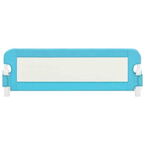 VidaXL Barrière de lit pour enfant en polyester Bleu 120 x 42 cm