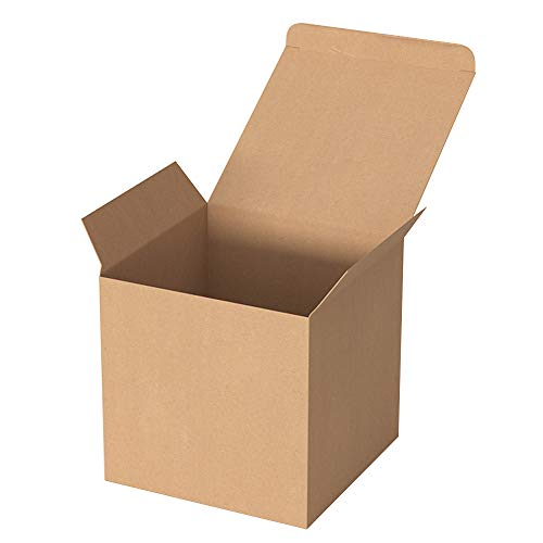 KUshopfast Brown Gift Boxes, 20Pack 3 x 3 x 3 Inch Recycled Paper Gift Boxes with Lids for Bridesmaid Proposal, Wedding, Cupcake, Easy Assemble Boxes for Party Favor