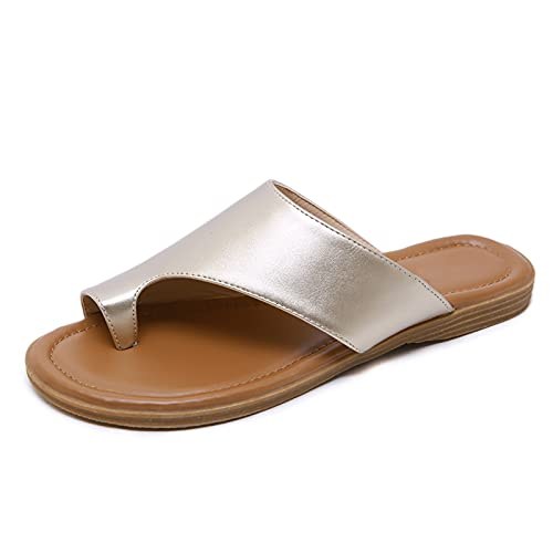 Sandalias Verano Damas Nuevo Casual Suave Y Versátil Chanclas Ligeras Antideslizante Resistente Al Desgaste Transpirable Playa Pendiente Talón Cómodo Zapatos Planos De Gran Tamaño Adecuado Trabajo