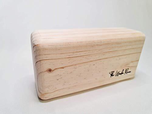 Bloque Yoga madera 100% natural hecho en España para Yoga, Pilates, Mindfulness, Meditación. ( 22cm x 11cm x 7cm)