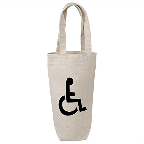 Azeeda 'Rollstuhl-Symbol' Weinflasche Geschenktasche / Flaschenträger (BL00013860)
