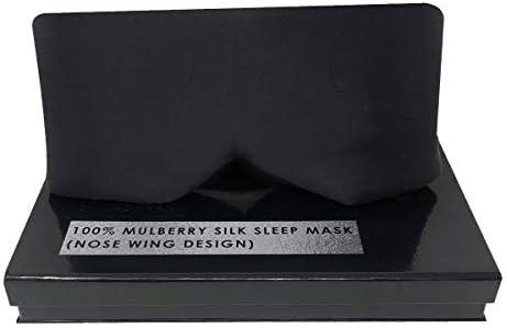 Silk Sleep Mask Luxury 100 Mulberry Silk Sleeping Mask for Women and Men Black Soft Eye Mask product image