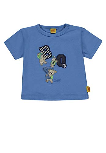 Steiff T- Shirt 1/4 Arm, Bleu (Riviera|Blue 3993), 56 cm Fille