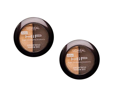 Pack of 2 Loreal Paris Hip Concentrated Shadow Duos, 818 Saucy