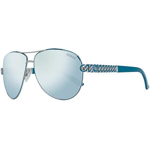 Guess Sonnenbrille Gu7404 10B-59-13-135 Gafas de sol, Plateado (Silver), 59.0 para Mujer