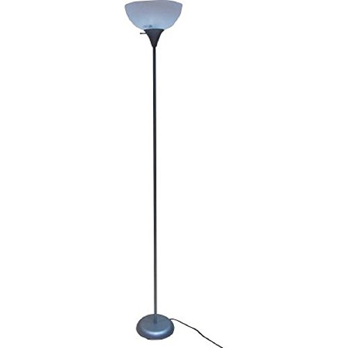 "Mainstays 71"" Floor Lamp, Silver (Silver)"