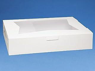 Pack of 10 White 19x14x4 Window Bakery or Cake Box