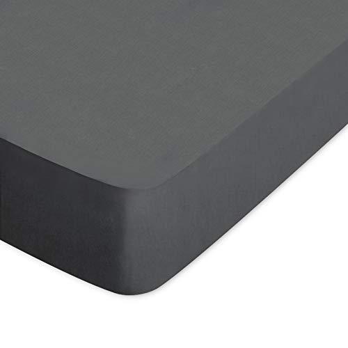Hoeslaken, 160 x 210 cm, envelop 40 cm, 100% katoen, Alto, grijs Manhattan