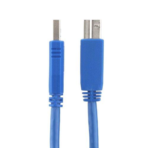 deleyCON EOL USB 3.0 Super Speed Adapter Kabel 1m - A-Stecker zu B-Stecker - bis zu 5.000 Mbit/s
