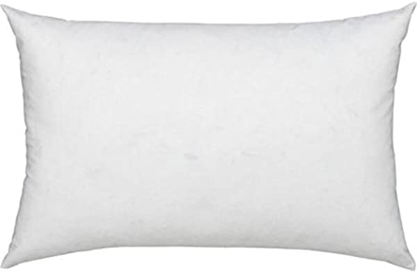 L COZEE Premium Feather And Down Pillow Insert Decorative Throw Stuffer Inserts Hypoallergenic Cotton Cover White 10x20
